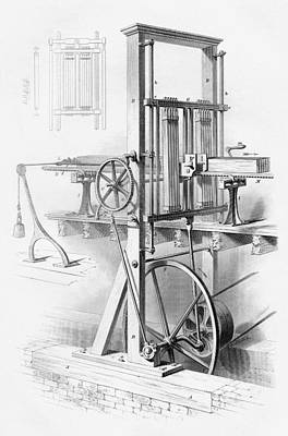 Sawmill. From Cyclopaedia Of Useful Poster