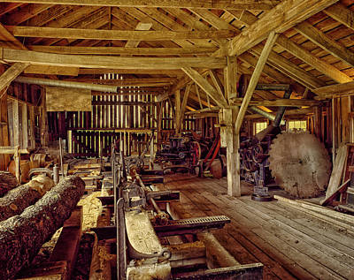 Sawmill Interior Poster