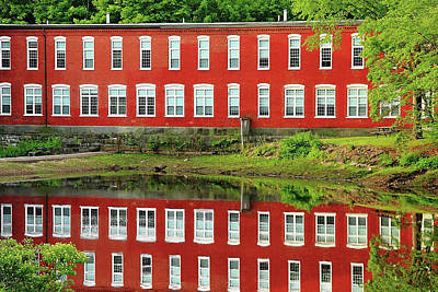 Sawyer Mill Reflection Poster