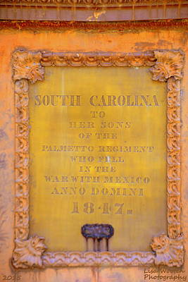 Sc State House Memorial 1847 Poster by Lisa Wooten