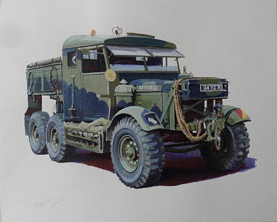Scammell Pioneer Wrecker. Poster by Mike  Jeffries