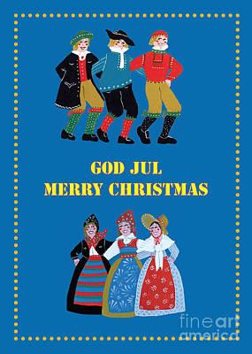 Scandinavian Christmas Card Poster