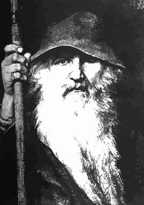 Scandinavian Mythology The Ancient God Odin Poster