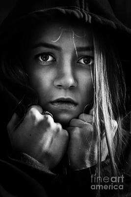 Scared Girl Poster by Aleksey Tugolukov