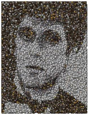 Poster featuring the mixed media Scarface Coins Mosaic by Paul Van Scott