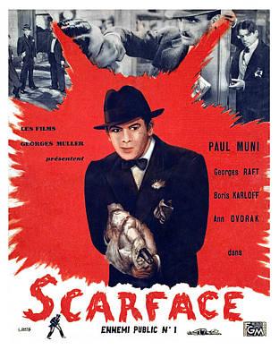 Scarface, Paul Muni, 1932 Poster