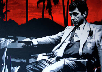 Scarface - Sunset Poster