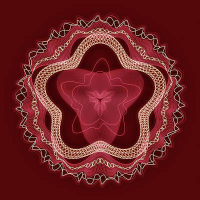 Scarlet Medallion Poster by Georgiana Romanovna