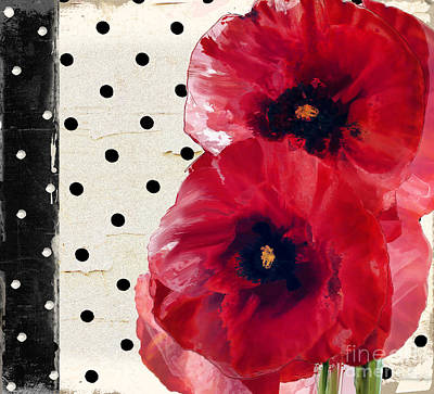 Scarlet Poppies Poster by Mindy Sommers
