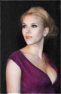Scarlett Johansson Art Print Poster by Best Actors