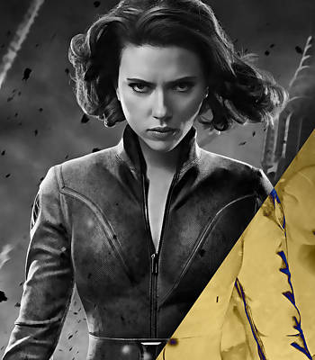 Scarlett Johansson Black Widow Collection Poster