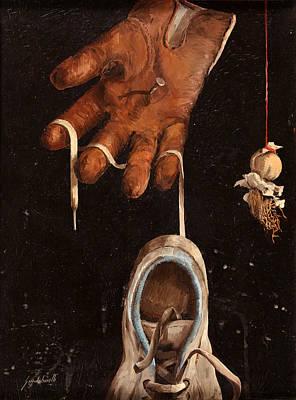 Scarpa Stringa Guanto Aglio Poster by Guido Borelli