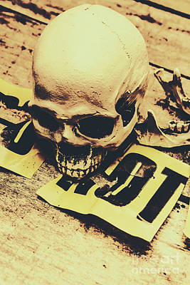Scary Human Skull Poster