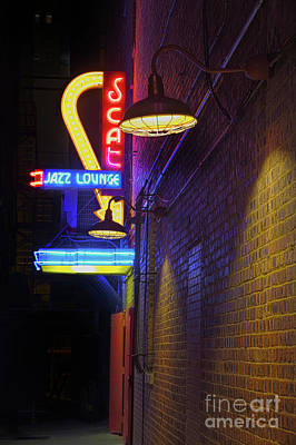 Poster featuring the photograph Scat Jazz Lounge 2 by Elena Nosyreva