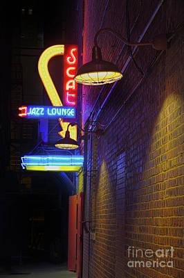 Scat Jazz Lounge 2 Poster by Elena Nosyreva