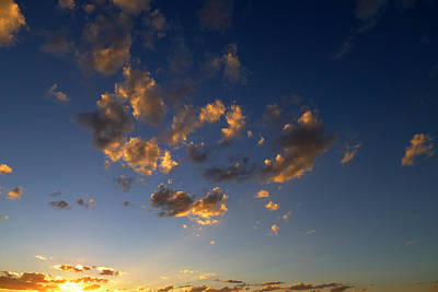 Poster featuring the photograph Scattered Clouds At Sunset by Paul Cutright