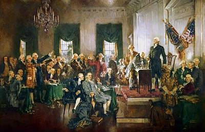 Scene At The Signing Of The Constitution Poster
