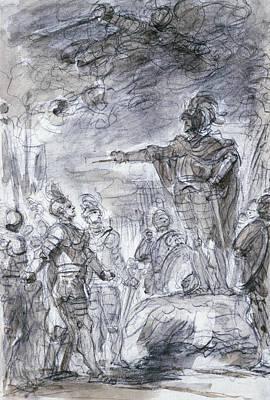 Scene From Ariosto's Orlando Furioso Poster by Jean-Honore Fragonard