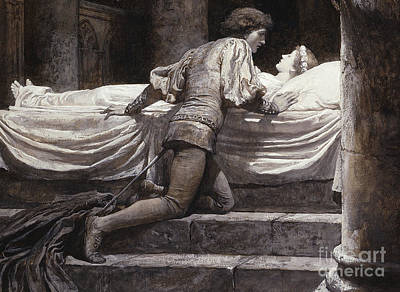 Scene From Romeo And Juliet - The Tomb  Poster by Frank Dicksee