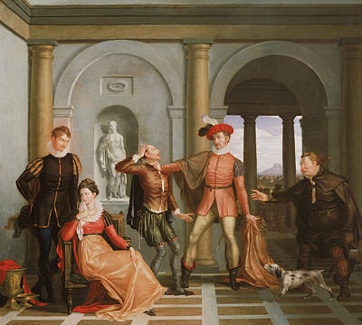 Scene From Shakespeare's The Taming Of The Shrew Poster by Washington Allston