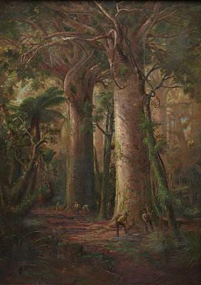 Scene Of Kauri Bush Poster by Charles Blomfield