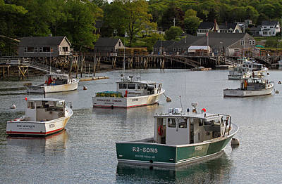 Poster featuring the photograph Scenic New Harbor Maine by Juergen Roth