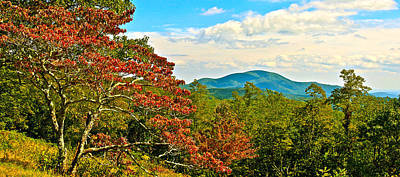 Scenic Overlook Blue Ridge Parkway Poster by The American Shutterbug Society