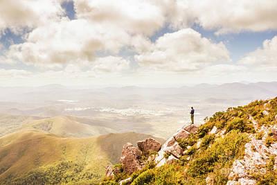 Scenic View Of Mt Zeehan, Tasmania, Australia Poster