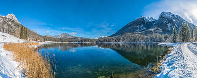 Gorgeous Mountain Lake In Snowy Alps Poster by JR Photography