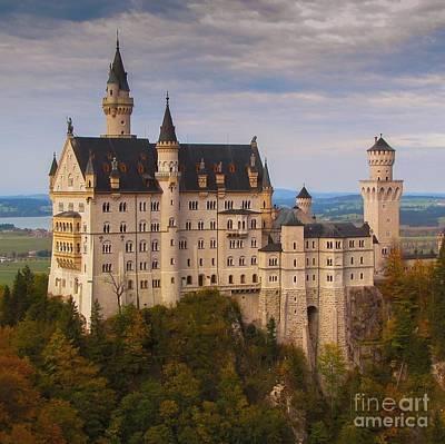 Schloss Neuschwanstein Poster by Franziskus Pfleghart
