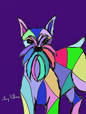 Schnauzer Colors Poster
