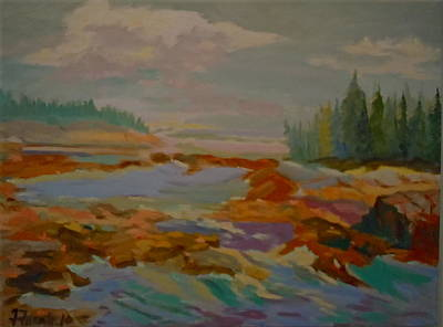 Poster featuring the painting Schoodic Inlet 2 by Francine Frank