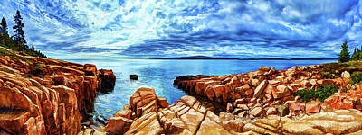 Schoodic Point Granite Poster by ABeautifulSky Photography