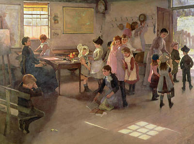 School Is Out Poster by Elizabeth Adela Stanhope Forbes
