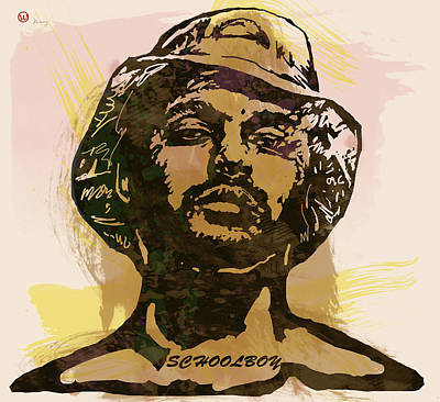 Schoolboy Q Pop Stylised Art Sketch Poster Poster by Kim Wang