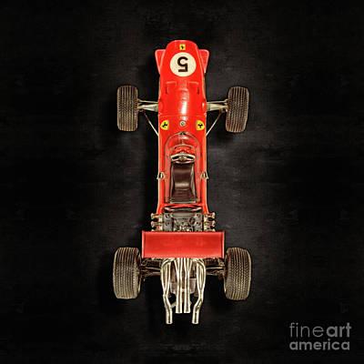 Schuco Ferrari Formel 2 Top On Black Poster