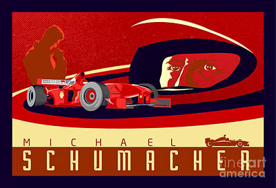 Schumacher  Poster by Sassan Filsoof