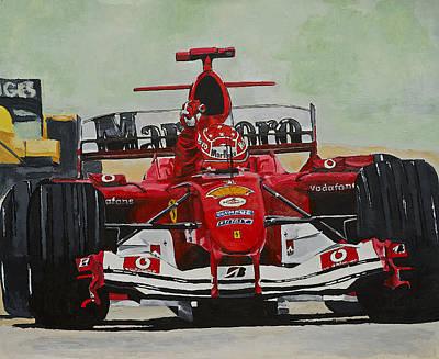 Schumacher Wins Poster by Terry Gill