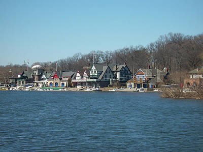 Poster featuring the photograph Schuylkill River - Boathouse Row In Philadelphia by Bill Cannon