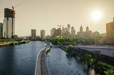 Poster featuring the photograph Schuylkill River Walk At Sunrise by Bill Cannon