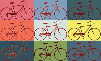 Schwinn Bicycle Pop Art Poster