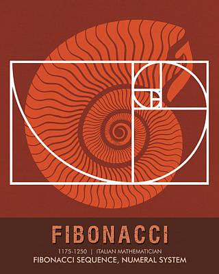 Science Posters - Fibonacci - Mathematician Poster