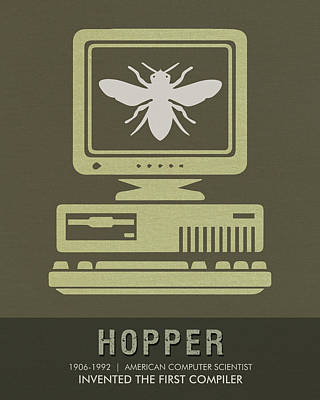 Science Posters - Grace Hopper - Computer Scientist Poster