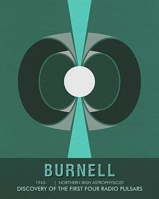 Science Posters - Jocelyn Bell Burnell - Irish Astrophysicist Poster