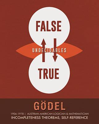Science Posters - Kurt Godel - Mathematician, Logician Poster