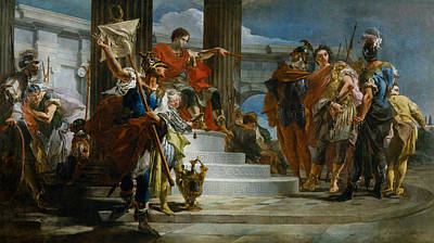 Scipio Africanus Freeing Massiva Poster by Giovanni Battista Tiepolo