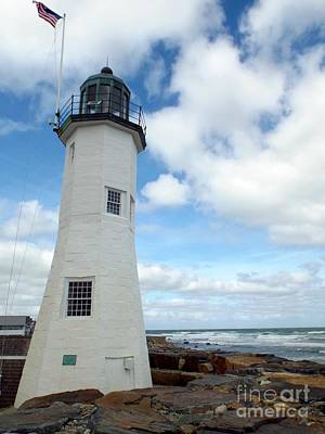 Poster featuring the photograph Scituate Light by Barbara Von Pagel
