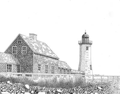 Scituate Lighthouse Poster by Tim Murray