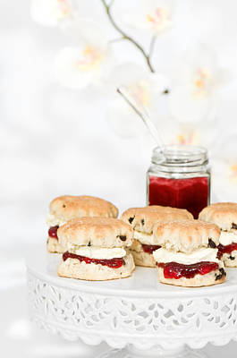 Scones With Cream And Jam Poster