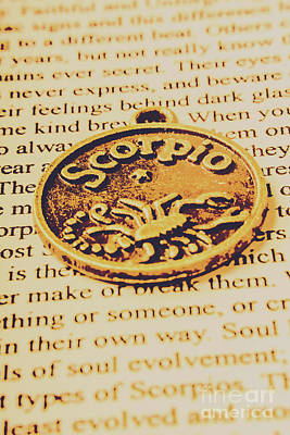 Scorpio Star Sign Token Poster